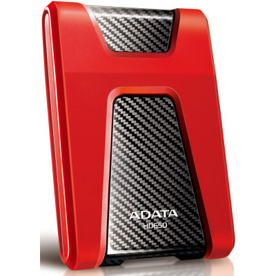 Внешний жесткий диск 1Tb A-DATA HD650 DuahDrive Durable Red (AHD650-1TU3-CRD)