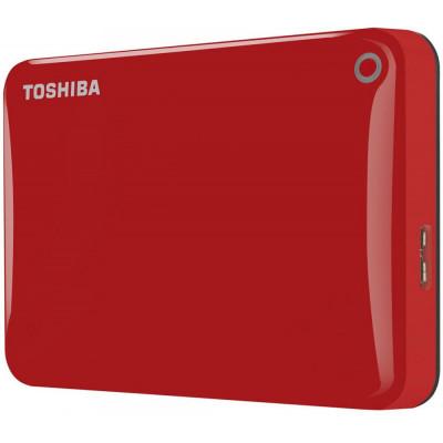 Внешний жесткий диск 500Gb Toshiba Canvio Connect II Red (HDTC805ER3AA)